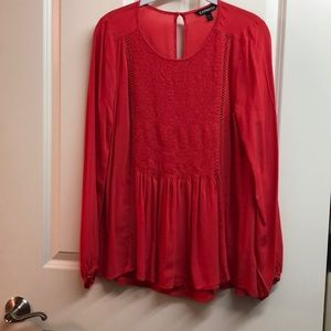 Express pheasant top.   Coral color.   Size Small